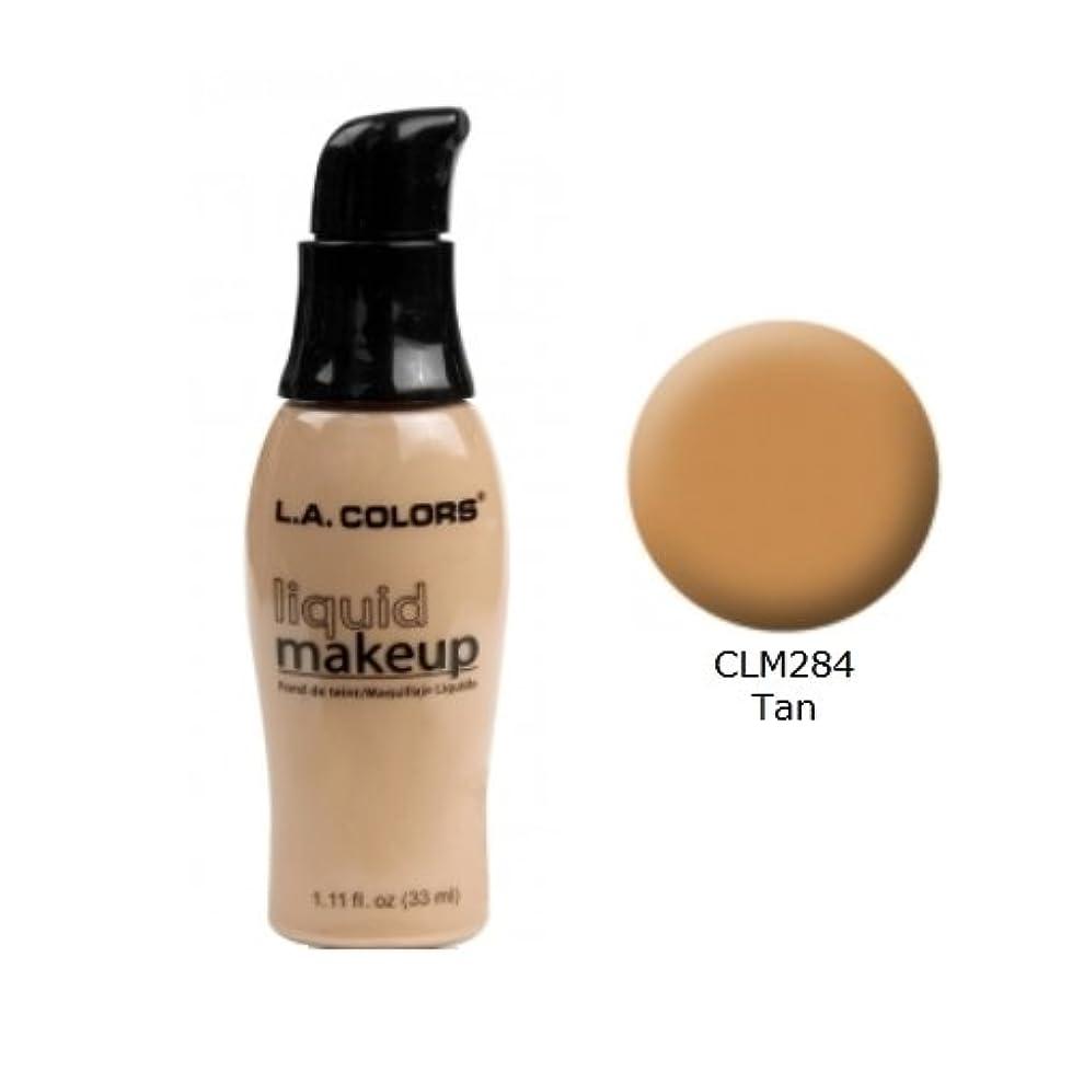 毛皮より平らな膨張する(3 Pack) LA COLORS Liquid Makeup - Tan (並行輸入品)