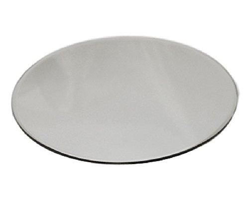 Zelda Bomboniere Espejo redondo de 30 cm de diámetro de cristal para decoración de bodas