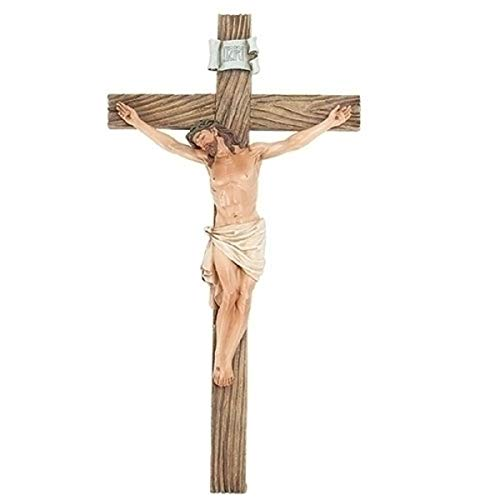 Roman Joseph Studio Jesus Christ 20.5'H Resin Stone Wall Cross Crucifix