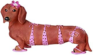 Pacific Giftware Adorable Bikini Beauty Doxy Collectible Wiener Dog Dachshund Figurine