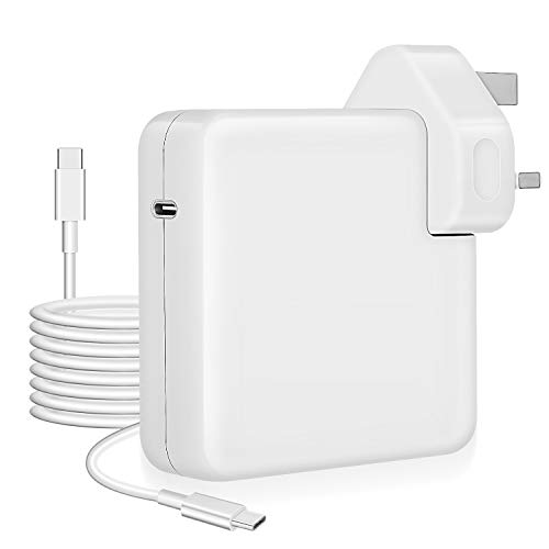 Mac Charger USB-C 61w Power Adapter compatible with Macbook-Pro 13 Thunderbolt 3 Charger,Type C PD Laptop Wall Charger for New Macbook Air 2020,Matebook,iPad Pro,iPhone,Galaxy and More
