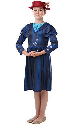 Rubie's Offizielles Disney Mary Poppins Return Filmkostüm, Kinderbuchwoche, für Mädchen, Größe 9–10 Jahre
