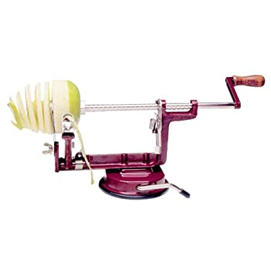Back to Basics A 505 Apple and Potato Peeler, Red