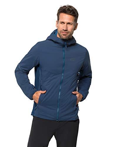 Jack Wolfskin Opouri Peak - Giacca a vento leggera da uomo, Uomo, Giacca a vento leggera., 1204551-1024003, blu scuro, M
