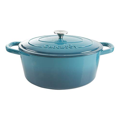 Crock-Pot Artisan Oval Dutch Oven, 7-Quart, Teal Ombre