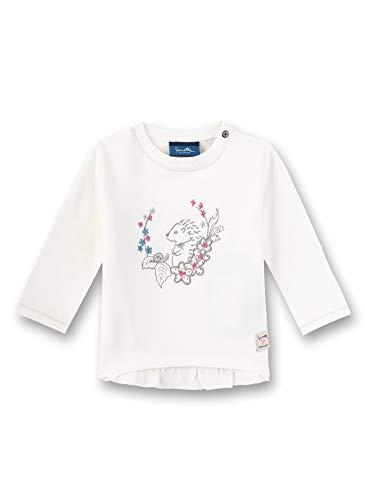 Sanetta Baby-Mädchen Sweatshirt, Beige (Ivory 1829), 62 (Herstellergröße: 062)