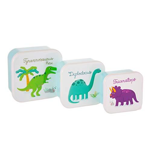 4. Sass & Belle Set de 3 Friambreras Dinosaurios