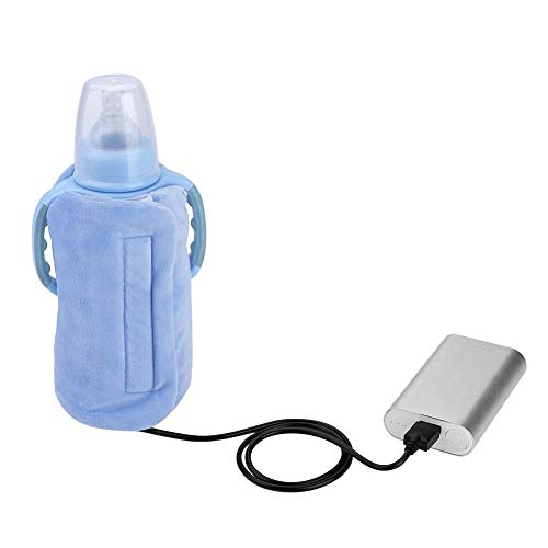USB Milk Bottle Warm Heat Keeper Baby Milk Water Drink Warm Keeper Multifunction Coffee Tea Mug Beverage Warming Bag (Blue)
