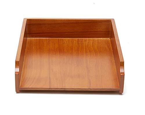 レターケース 収納トレー デスクトレー A4ファイル収納 卓上 木製 おしゃれ 深型 縦 ブラウン ナチュラル 積み重ね可能 頑丈 臭いなし 高級感 厚重感 幅26 cm *奥行30 cm *高さ8cm 1段2段3段4段 (ナチュラル)