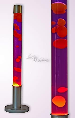 Grande cera gialla della lampada della lava cera viola H: 76cm Mood Light Floor Lampada da terra di design retrò Soggiorno Stanza della gioventù