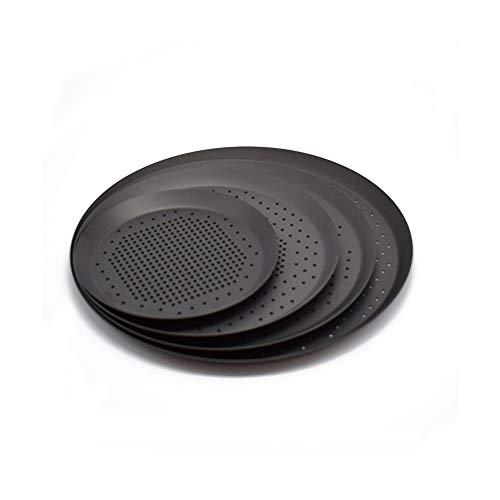 4 x Pizza-Backform aus Karbonstahl, mit Loch, antihaftbeschichtet, Pizza-Backform, Backzubehör, Küchenzubehör