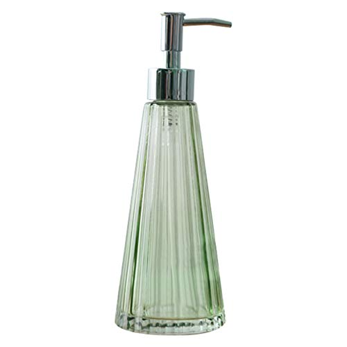 YUXINYAN Soap Dispenser 300ml Paraguas Forma Vidrio Mano Lavado líquido Botella Vintage jabón dispensador champú emulsión Almacenamiento Botella Dispensador Jabon Baño (Color : Green)