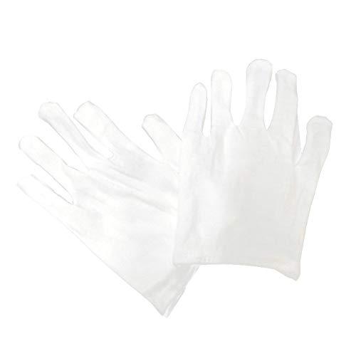 SOSPIRO Katoenen handschoenen, witte katoenen handschoenen Munthandschoenen voor dames Heren Hydraterend Serveert Archiefreiniging Sieraden Zilver Inspectie