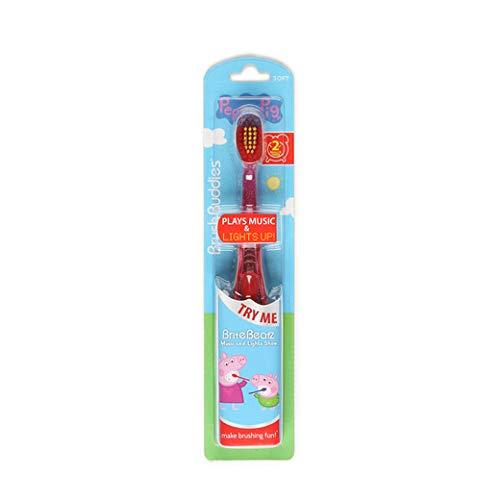 Brush Buddies Toothbrush for Children, boy, Girls - 1 Count (Peppa Pig Brite Beatz)