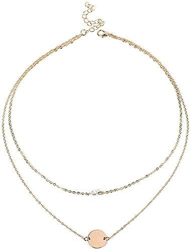 WYDSFWL Collar de Plata esterlina Retrato de Cara Abstracta Cadena de clavícula Chica Pareja joyería Perfecta Regalo Collar Regalo