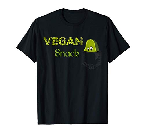 Cartoon Vegan Snack Avocado Fruit Healthy Food Pocke...
