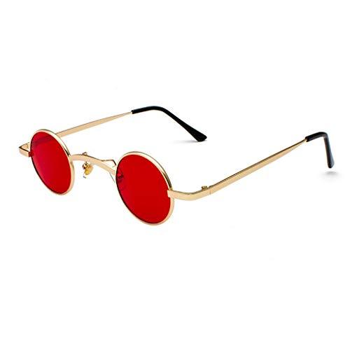 SFHTFTRGJRYJ Lennon Runde Sonnenbrille Retro Vintage Steampunk Mode Living Männer Und Frauen Uv400 Sonnenbrille Erwachsene Beatles Unzerstörbar Metallrahmen Sonnenbrille (Color : B, Size : Size)