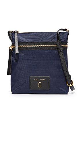 Marc Jacobs bolso de nylon azul de medianoche 23x24x1cm nuevo