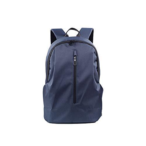 Lpiotyudnb Mochila Bolsa de Hombre Ocio Ocio Doble Mochila Color Sólido Oxford Paño Paño Bolsa de Potencia Moda Hombros Crossbody Bolsas Anti Robo (Color : Blue, Size : 44x18x32cm)