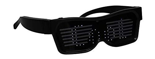 nowolights® app gesteuerte LED Brille individuell programmierbar mit App für iPhone iOS und Smartphone Android für Raves Festival Techno EDM Clubs Motto Partys