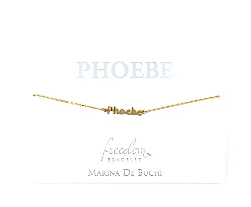 SYMBOLOGY Personalised Name Chain Bracelets Gold Plated - Phoebe