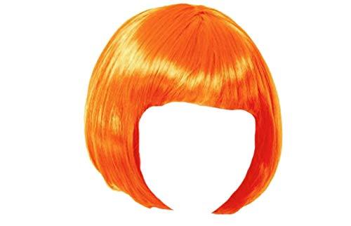 Matissa - Peluca corta para mujer (pelucas para disfraz, cosplay, disfraz, fiesta de disfraces), color naranja
