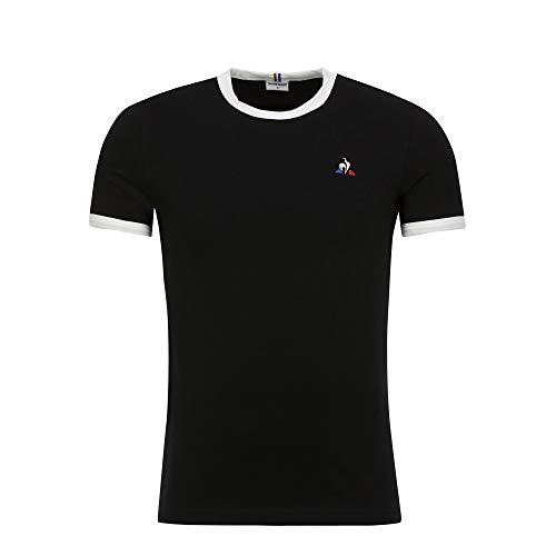 Le Coq Sportif ESS tee SS N°4 Camiseta, Hombre, Black, XXL