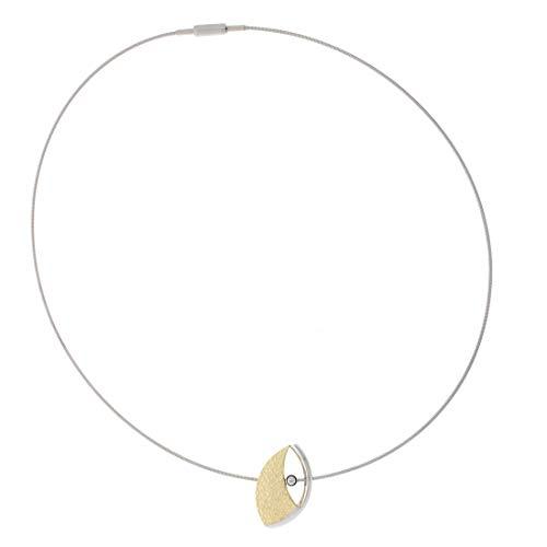 XEN Atelier Collier mit Diamant ca. 0,05 ct. goldplattiert 42 cm 42