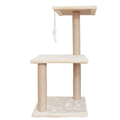 3 Plattformen Haustier-Spielzeug Multi-Level-Jumping-Plattform Fluffy Kissen Haar-Kugel-natürliche Sisal Kratzmöbel Einfache Installation LMMS