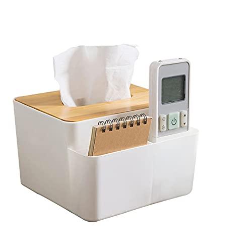 Marjory Caja de almacenamiento Tissue Box con tapa para tableta, organizador multifunción, mando a distancia, caja de almacenamiento para casa, oficina, baño, sala de estar, caja de pañuelos