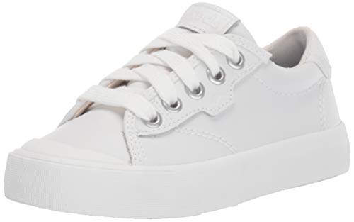 Keds Unisex-Child Crew Kick 75 Sneaker, White Leather, 12.5 M US Little Kid