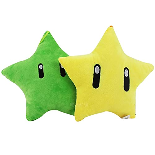 Mario Felpa 2 unids/lote Star Cushion Super Mario Mario Mario Brothers Peluche Muñeca Dibujos Animados Muñeca Regalo de Cumpleaños