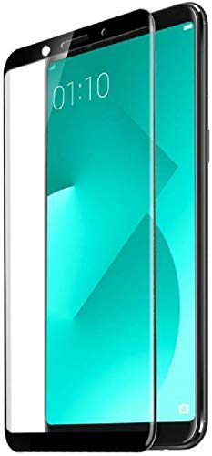 Efficia Full Protection Tempered Glass for Oppo A83 Top Notch Edge to Edge Full Screen Coverage [Anti-Scratch] [Gorilla] [Free Cleaning Kit Included] - Black