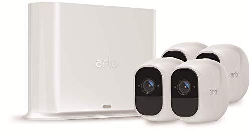 Arlo Pro 2 - Smart caméra de surveillance, Paquet de 4, 1080p HD jour/nuit, grand angle 100% Sans Fils -VMS4430P-100EUS