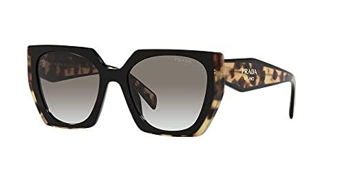 Prada Gafas de Sol MONOCHROME PR 15WS Black Blonde Havana/Grey Shaded 54/19/140 mujer