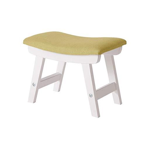 YLCJ kruk met voetensteun, zitbank van hout, gevoerde zitting, max. 150 kg, kruk 38 x 29 x 24 cm (kleur: groen) Groen