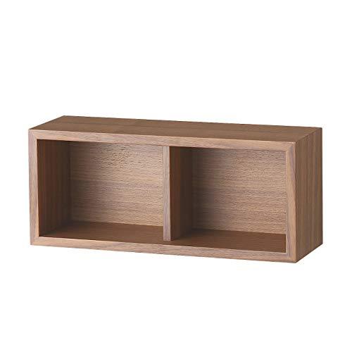 無印良品 壁に付けられる家具・箱・幅44cm・ウォールナット材 幅44×奥行15.5×高さ19cm 37287266