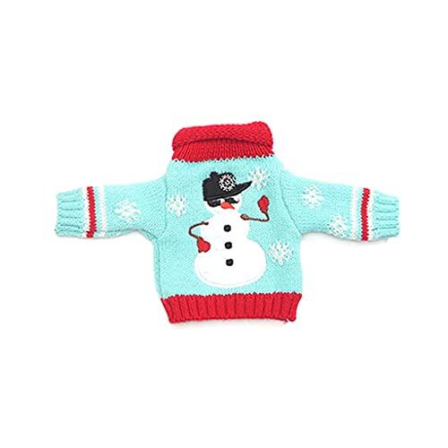 IOOOFU Suéter de Navidad Cubierta de Botella de Vino Suéteres de Punto Bolsa de Regalo para Botella de Vino - 01#