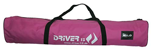Driver13 ® Kinderskitasche Skisack für Ski Skistoecke, Kids Schitasche zum Aufbewahren und Transport beim Skifahren, wasserfest (auch Snowblades und Bigfoots) pink 120 cm