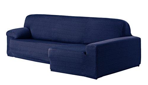 Eysa Aquiles Élastique Chaise Longue Droite, Vue frontale, Polyester Coton, Bleu, 43x37x14 cm