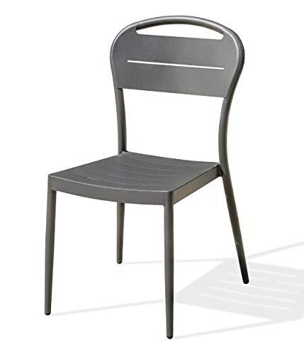 DCB GARDEN MADELIA Chaise de Jardin, Anthracite