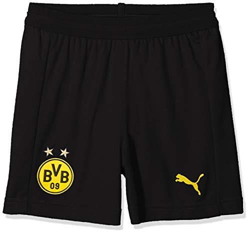 PUMA Unisex Kinder Borussia Dortmund Home 2018/2019 T-Shirt, schwarz, 164-XL