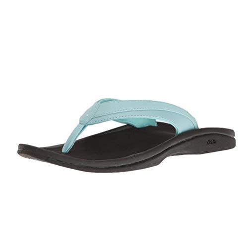 OluKai Ohana Women's Beach Sandals, Quick-Dry Flip-Flop Slides, Water Resistant & Soft Comfort Fit, Wet Grip Soles & Compression Molded Footbed