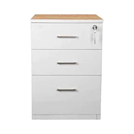 Pedestal Unit with 3 Drawers in White Colour Use for Home & Office