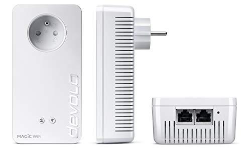 Devolo Magic 2 WiFi Next: Adaptador CPL WiFi más rápido del Mundo (2400 Mbps, 2 Puertos Gigabit Ethernet, Ideal para teletrabajo y Streaming