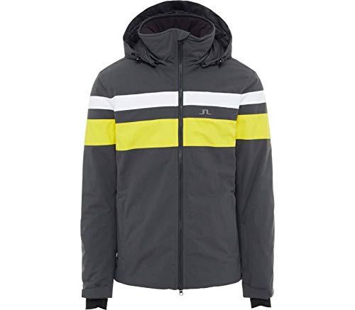 J.Lindeberg M Franklin Jacket Gelb-Grau, Herren Primaloft Jacke, Größe L - Farbe Banging Yellow