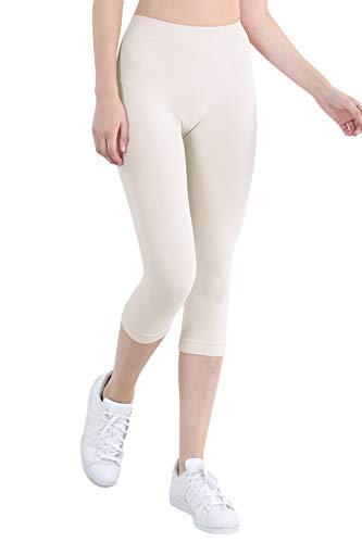 NIKIBIKI Women Seamless 3/4 Crop Capri Leggings, Made in U.S.A, One...