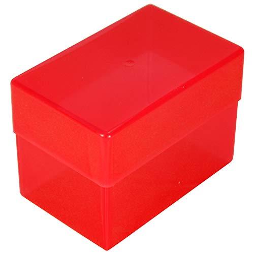 WestonBoxes - Plastic visitekaartjesboxen 70 mm diep, ideaal voor opslag en transport van visitekaartjes (Root, 50 Stuks)