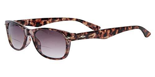 LINDAUER Getönte Lesebrille/Sonnenbrille BIFOKAL +1,0 UV400 CAT.3 Flexbügel