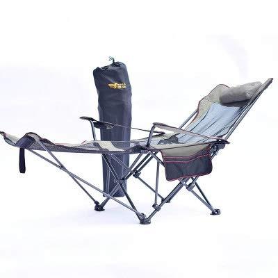 Without logo DSJTCH Extérieur Pliant Chaises Pliantes Portable pêche Chaise de Camping Siège Oxford Tissu léger Siège for l'acier Inoxydable (Color : Dark Gray)